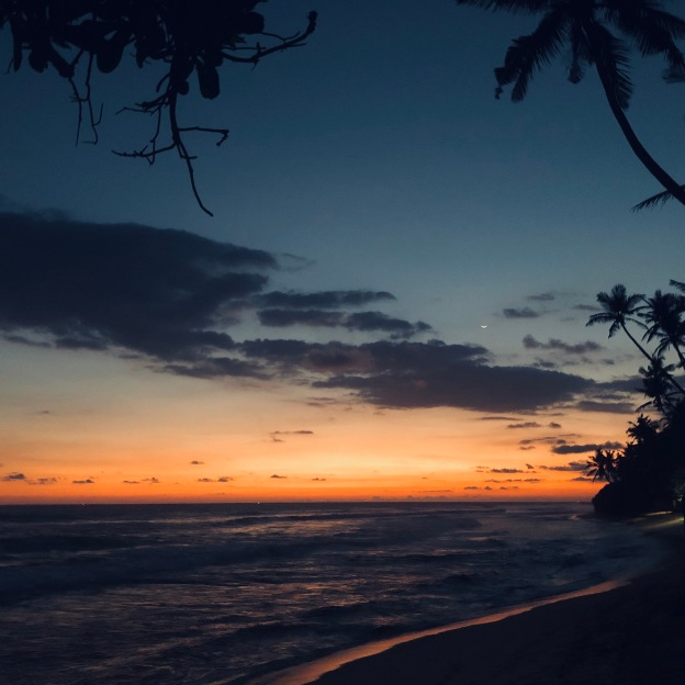 Sri Lanka Unawatuna sunset